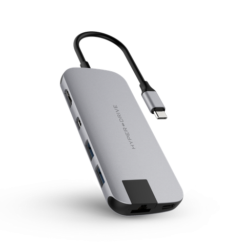 ✅ Cổng chuyển Hyperdrive SLIM 8 in 1 USB-C Hub for MacBook, PC & Devices