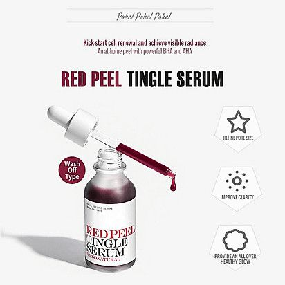 Tinh Chất Thay Da Sinh Học So'Natural Red Peel Tingle Serum 35ml