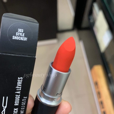 Son MAC Powder Kiss Lipstick Màu 303 Style Shocked