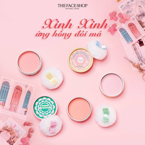 Phấn Má Hồng Pastel Cushion Blusher The Face Shop