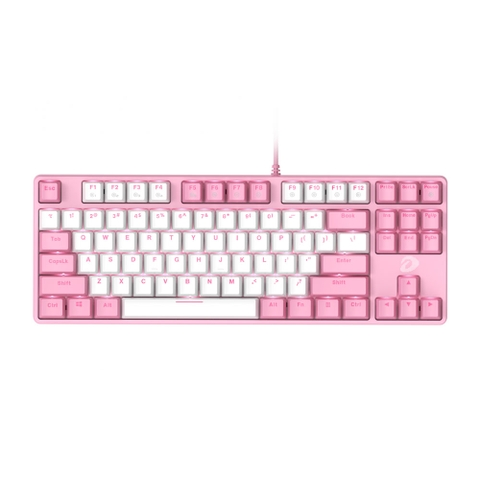 Bàn phím cơ Gaming DAREU EK87 PINK-WHITE (PINK-LED, Blue/ Brown/ Red D switch)