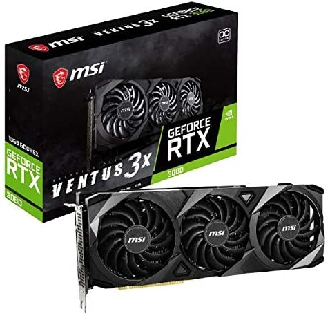 MSI GeForce RTX 3080 VENTUS 3X 10G OC (10GB GDD6X, 320-bit, HDMI +DP, 2x8-pin)
