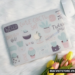 Ốp Macbook In Hình Hello Cute