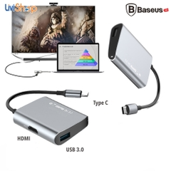 Hub USB Type C tốc độ cao Baseus (USB type C to Hub USB 3.0/2.0, SD/ TF Card Reader, HDMI, LAN RJ45)