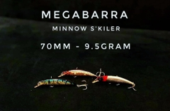 Mồi lure megabarra Minnow S'killer