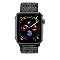 Apple Watch Series 4 Space Gray Aluminum Case with Black Sport Loop