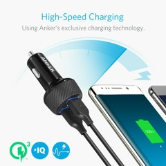 SẠC Ô TÔ ANKER 2 CỔNG 39W, QUICK CHARGE 3.0 - [POWERDRIVE SPEED 2, 39W QC 3.0]