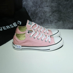 Outlet Converse classic thấp cổ vải hồng COUT166