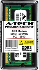 A-Tech 4GB DDR3 1600 MHz PC3-12800 204-pin SODIMM