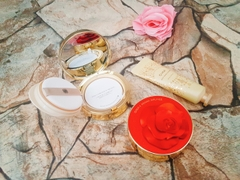 Set Phấn Nước + Kem Dưỡng Tay Ohui Ultimate Cover Cushion Moisture Red & Gold Rose Petal Special Edition II