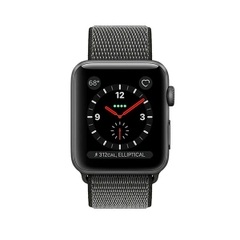 Apple Watch Series 3 (GPS + Cellular) Space Gray Aluminum Case with Dark Olive Sport Loop