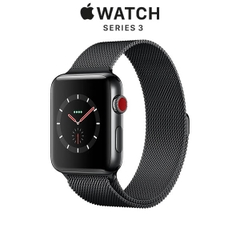 Apple Watch Series 3 (GPS + Cellular) Space Black Stainless Steel Case with Space Black Milanese Loop