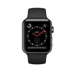 Apple Watch Series 3 (GPS + Cellular) Space Black Stainless Steel Case with Black Sport Band