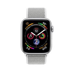 Apple Watch Series 4 GPS Silver Aluminum Case with Seashell Sport Loop
