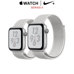 Apple Watch Series 4 Nike+ Silver Aluminum Case with Summit White Nike Sport Loop