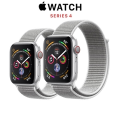 Apple Watch Series 4 (GPS + CELLULAR) Silver Aluminum Case with Seashell Sport Loop