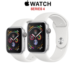 Apple Watch Series 4 GPS Silver Aluminum Case with White Sport Band