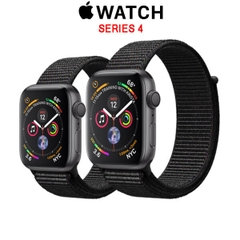 Apple Watch Series 4 GPS Space Gray Aluminum Case with Black Sport Loop