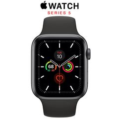 Apple Watch Series 5 (GPS) 44mm Space Gray Aluminum - Black Sport Band