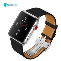 Dây Da Luxury COTEetCI Khóa Bướm cho Apple Watch