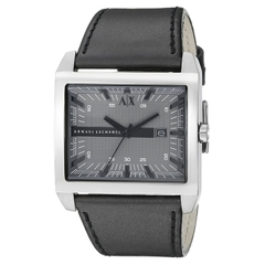 Armani Exchange Men's AX2218 Stainless Steel (Black Leather)