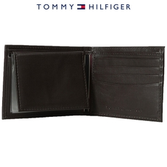 Ví Da Nam Tommy Hilfiger Brown Leather Multi-Card Bifold