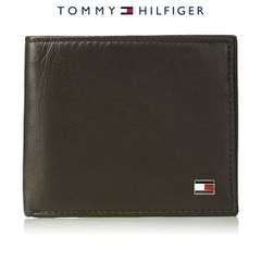 Ví Da Nam Tommy Hilfiger RFID Blocking Passcase Bifold - Brown