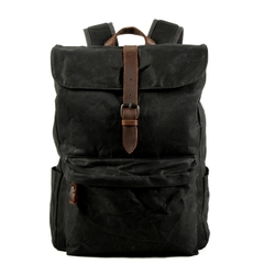 Balo Canvas Sáp phối da bò AT Leather - BL9823