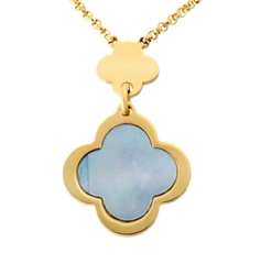 Dây Chuyền Orphelia Necklace Gold Multiple Flowers Blue Mop