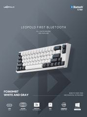 Bàn phím cơ Leopold FC660 PD BT White Dark Grey - Silent Red Switch