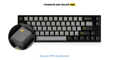 Bàn phím cơ Leopold FC660M PD Ash Yellow - Red switch
