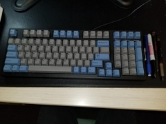 Bàn phím cơ Leopold FC980M PD Blue Grey - Red switch