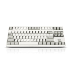 Bàn Phím Cơ Leopold - FC750RPS White Grey -Red Switch