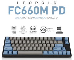 Bàn Phím Cơ Leopold - FC660MPD Blue Grey - Brown Switch