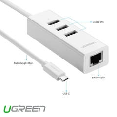 USB Type-C To Lan + USB Hiệu Ugreen (20792)
