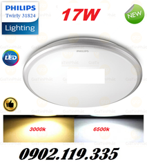 Đèn Ốp Trần LED Philips 31825 Twirly LED WHT 17W