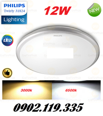 Đèn Ốp Trần LED Philips 31824 Twirly LED WHT 12W