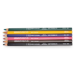 Bút chì vẽ gốm set 6 cây. Amaco Underglaze decorating pencil set 6
