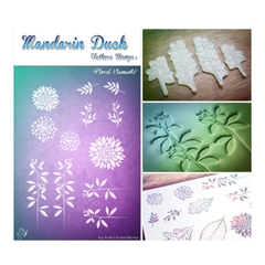 Silicone in họa tiết Madarin Duck - Texture Stamps - Floral Elements