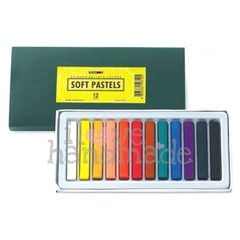 Màu phấn 12 màu - Soft pastels set 12 colours