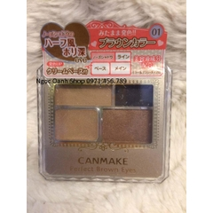 Phấn mắt Canmake Perfect Brown Eyes #01