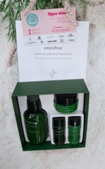 Set dưỡng Innisfree Green Tea Seed 80ml+ tặng 3sp mini