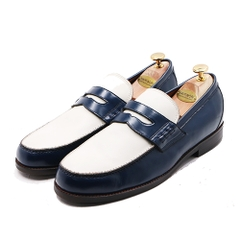 Penny Loafer BM06 Navy/White