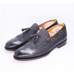 Tassel Loafer Mix Fabric BR06