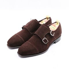 Cap Toe Double Monk Suede SL01