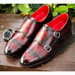 Double Monk Strap Patina MTO
