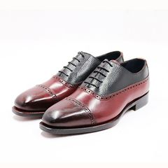 Balmoral Quater Brogues Oxford AL01 Burgundy/Black 389