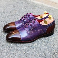 QUATER BROGUES OXFORD LACE UP PATINA