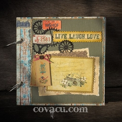 Scrapbook handmade LIVE LAUGH LOVE