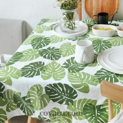 Vải Canvas Tropical Leaves